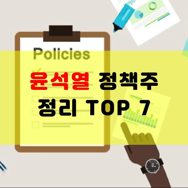 윤석열 정책주